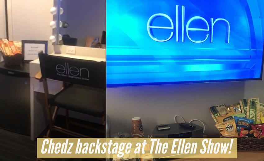 chedz backstage at ellen show final