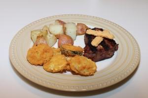 filet mignon with chedz zuchini and squash 2