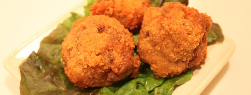chedz onion ring meatballs